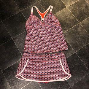 Athleta Tankini Women's 2 Piece Swimsuit Medium
